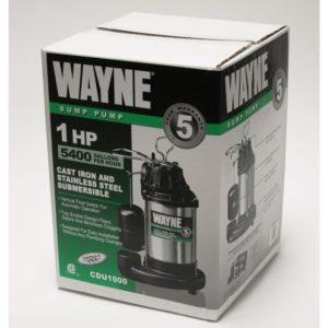 key features of the wayne cdu1000 sump pump 60 second summary - Watchdog Sump Pump