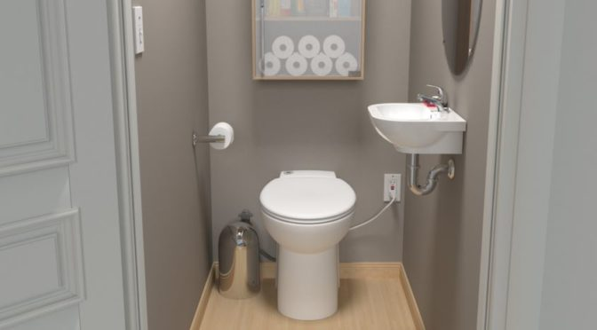 Saniflo 023 Sanicompact Toilet and Built-In Macerator Review and Saniaccess 2 Comparison