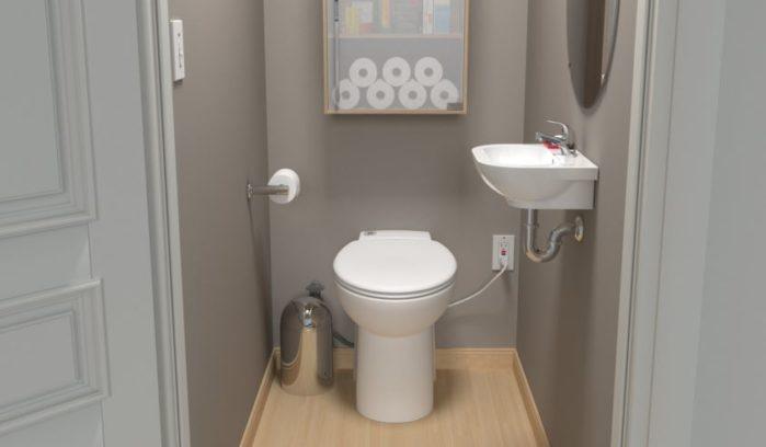 Saniflo 023 Sanicompact Toilet And Built In Macerator